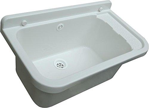 Bec verseur Bac 55cm lavabo trog Évier avec évacuation d'écoulement