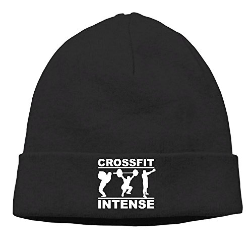 Richard Lyons Momen Crossfit Intense Fitness Casual Style Street Dance Black Beanies Caps Hats (Dallas Cowboys Cross Gloves)