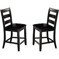 Milton Greens Stars Julianna Counter Height Chairs (Set of 2), Gray