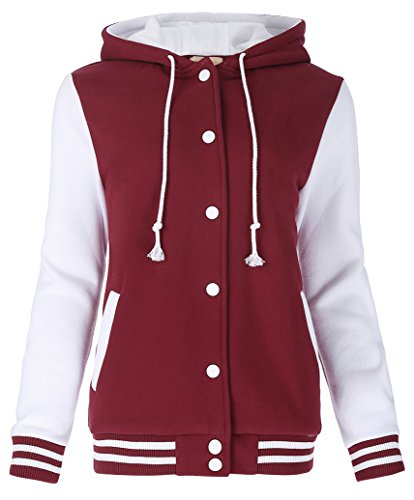 JACK SMITH Lovers Clothes Street Style Baseball Uniform Coat Jackets (M,Red (Baseball Style Jacket)