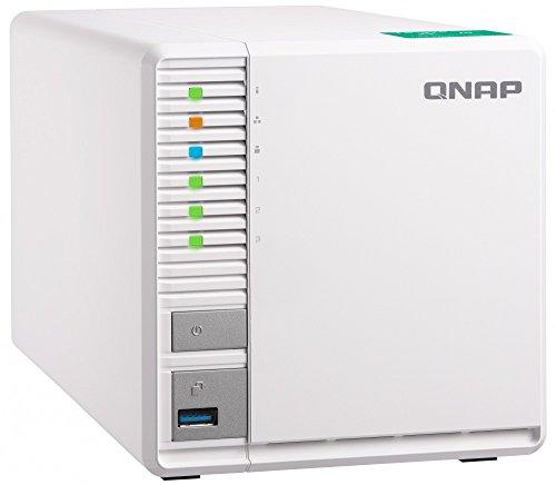 "Qnap TS-328-US QNAP 3-bay Personal Cloud NAS, Ideal for RAID5 Storage. ARM Quad-core 1.4GHz, 2GB DDR4 RAM, 2 x Gigabit LAN, 2.5""/3.5"" SATA HDD (Hot-swappable)"