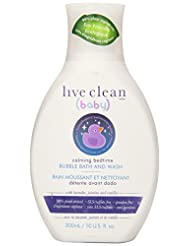 Live Clean Baby Calming Bedtime Bubble Bath & Wash, 10 Fluid ...