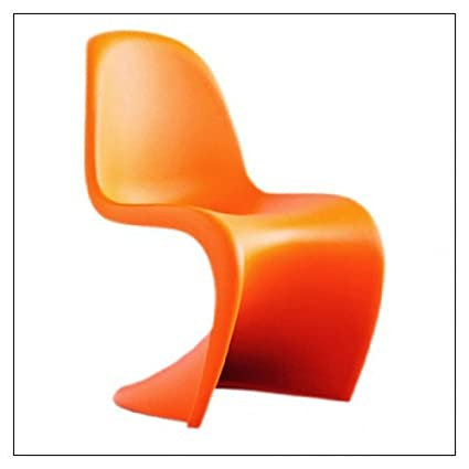 Amazon.com: Vitra Panton Chair, color = Tangerine: Kitchen & Dining