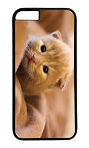 MOKSHOP Adorable kitty hd Hard Case Protective Shell Cell Phone Cover For Apple Iphone 6 Plus (5.5 Inch) - PC Black by icecream design