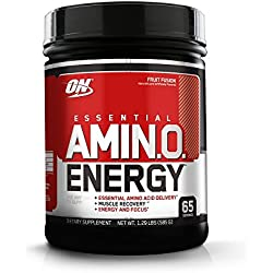 Optimum Nutrition Amino Energy with Green Tea and Green Coffee Extract, Flavor: Fruit Fusion, 65 Servings