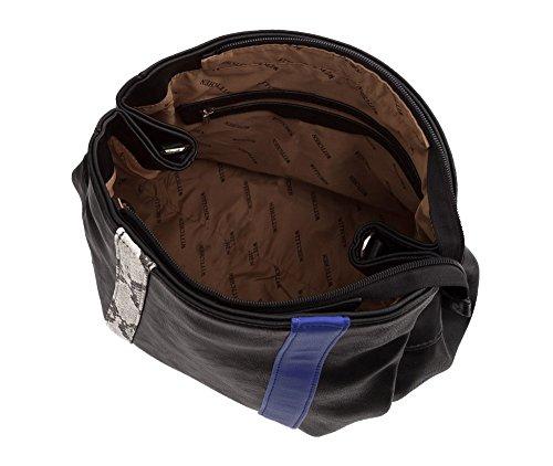 Wittchen Urban Bag Boy   33x40cm, Similpelle   Adatto Per Formato A4: Sì   Nero Blu, Collezione: Giovani   85-4y-407-17
