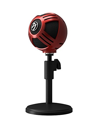 Audio Microphone Blues Stand Technica (Arozzi Sfera USB Microphone for Gaming & Streaming, Red - PC/Mac/Linux)