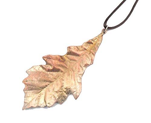 (White Swamp Oak Leaf Brass Ornament by Michael Michaud for Silver Seasons Table Art)