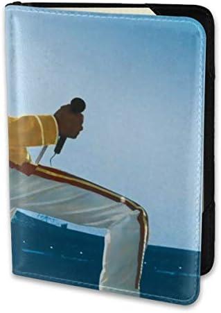 QUEEN クイーン ボヘ Freddie Mercury パスポートケース メンズ 男女兼用 パスポートカバー パスポート用カバー パスポートバッグ 小型 携帯便利 シンプル ポーチ 5.5インチ高級PUレザー 家族 国内海外旅行用品