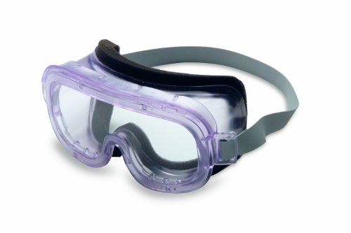 Safety Goggles, Clear Body, Clear Uvextreme Anti-Fog Lens, Face Foam (Classics Splash)