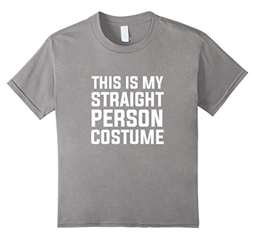 Kids This is my Straight Person Costume Funny Bi LGBT Humor Shirt 4 Slate (4 People Costume Ideas)
