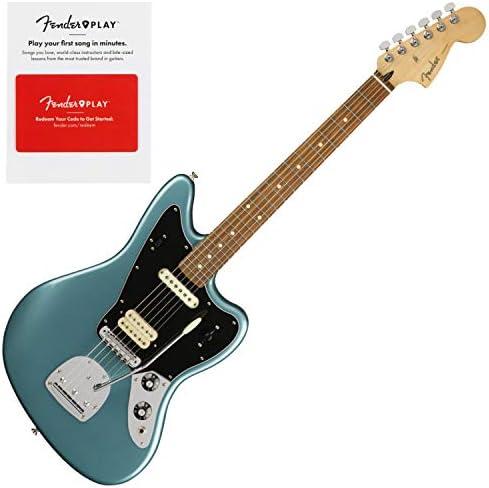 Fender Player Jaguar Pau Ferro - Guitarra eléctrica para diapasón con prepago F: Amazon.es: Instrumentos musicales