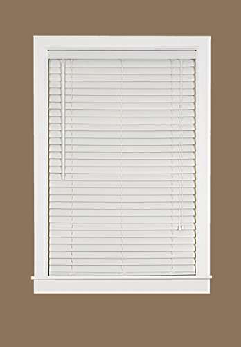 Plantation Collection Vinyl Venetian 2-Inch Mini Blind - White - 32