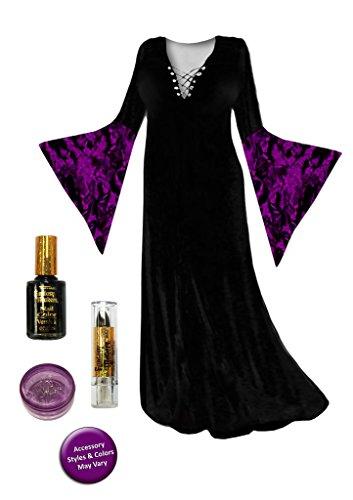 Black Sorceress Plus Size Supersize Halloween Costume Basic Kit 3x
