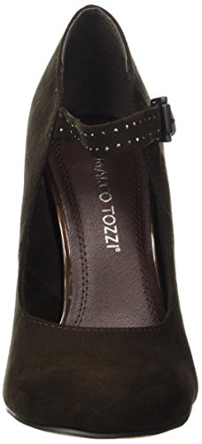 Zehe 304 mit geschlossener Mocca Marco braun Pumps 24403 Damen Tozzi IzwIqHY6