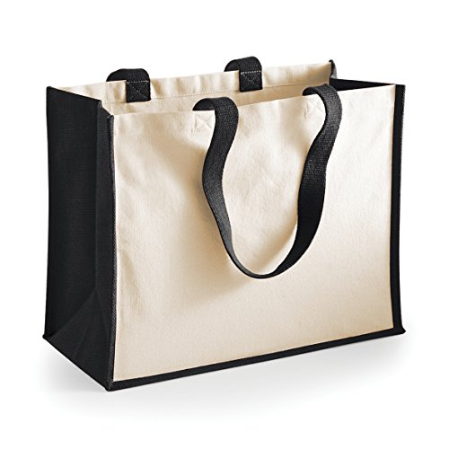 Black Printers Shopper Unisex Westford Jute Size One Bags Mill Tote Classic a1xxv4wfqS
