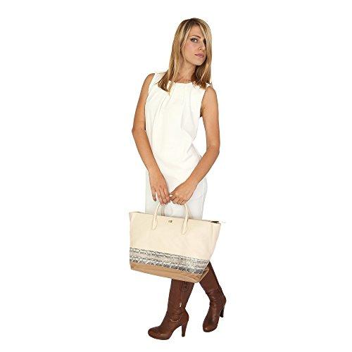 Roberto Cavalli Class Damen Handtasche 33x28x17 cm Mod. C60PWCIB0042F75 Weiß - Leder q9wusuY
