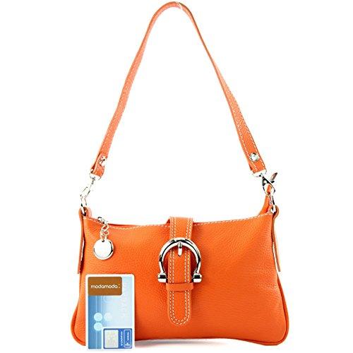 Italiana Vera In Tracolla Orange Borsa A T05 Messenger Pelle wH4Fxaq1