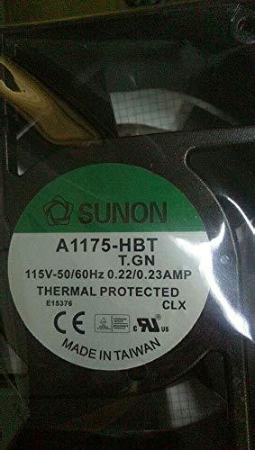 A1175-HBT T.GN AC 115V 50/60Hz 0.59/0.48AMP Cooling Fan Socket Type 6 Month Warranty