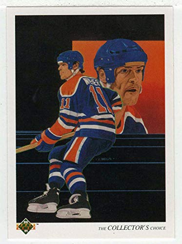 Mark Messier - Edmonton Oilers Team Checklist (Hockey Card) 1990-91 Upper Deck # 321 NM/MT