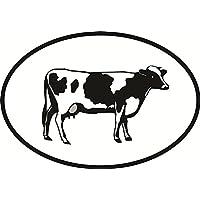 Cow Euro Oval Bumper Sticker