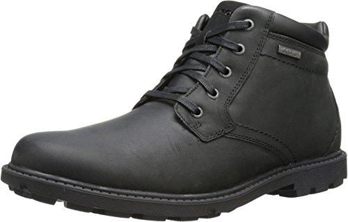 (Rockport Men's Rugged Bucks Plain Toe Rain Boot,Black Waterproof,14 M US)