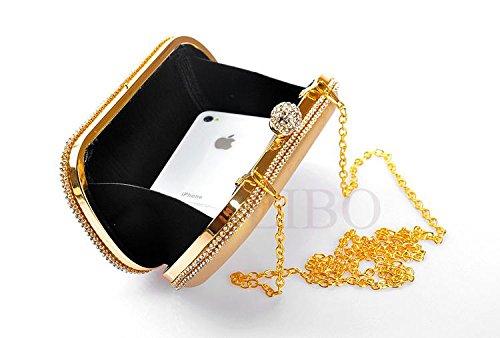 Gaorui, Borsetta da polso donna Oro oro