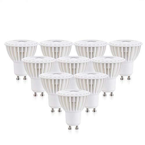 Ossun - Bombillas LED de cuello largo GU10 de 7 W, luz blanca cálida,