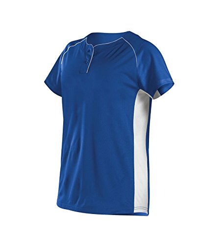 Alleson Ahtletic Women's Power Flex Fast Pitch Softball Jersey, Royal/White, X-Large