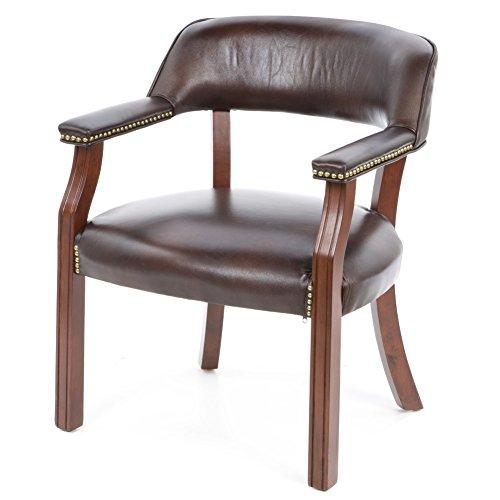 Charlton Home Walford Leather Arm Chair, Guest Arm Chair, Bu