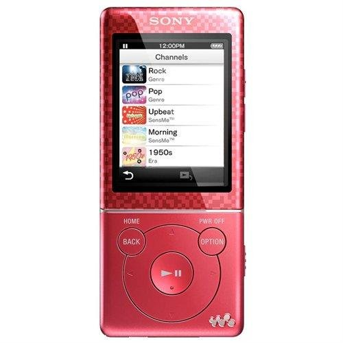 Sony NWZE474 8 GB Walkman MP3 Video Player (Red) (Discontinued by Manufacturer) by Sony