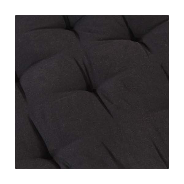 Festnight Coussin de Canapé Palette en Coton Coussin de Sol 120x40x7 cm Noir