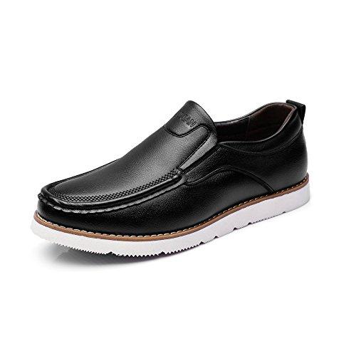 MXNET Chaussures de Mocassins d'hommes, Mocassins Noirs en Cuir d'unit