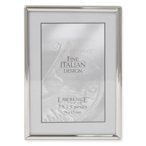Lawrence Frames Simply Metal Picture Frame, 3.5 by 5-Inch, Silver ()