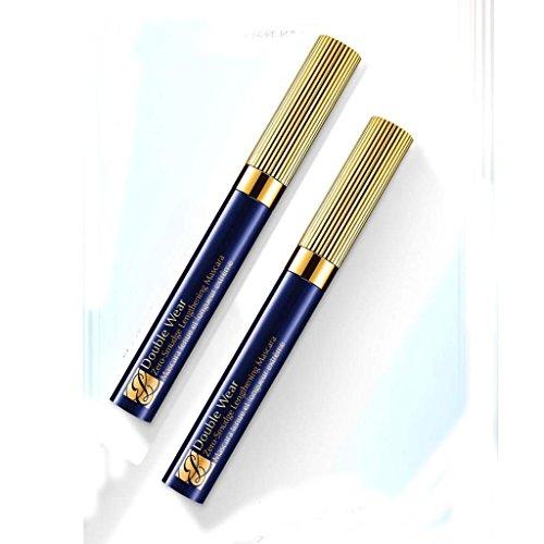 Estee Lauder Double Wear Zero-Smudge Lengthening Mascara 01 Black Full Size Duo Set (Pack of 2)