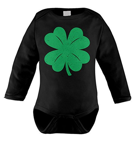 Green Distressed Shamrock Patricks Bodysuit