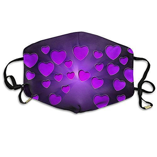 Unisex Face Mask Purple Heart - Center Map Independence