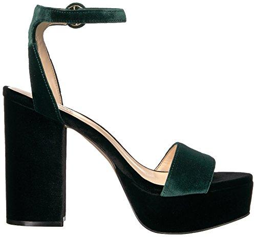 Nine West Women's Krewl Heeled Sandal Green Fabric choice online sale new 4wZXu