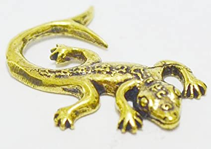 VERY RARE 2 TAILS GECKO LIZARD THAI BUDDHA GAMBLER AMULET FOR LUCKY WEALTH POWER