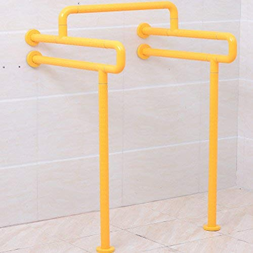 ACHKL HU-Floor handrail for Bathroom Old Barrier-Free Bathroom handrail White (Color : Yellow)