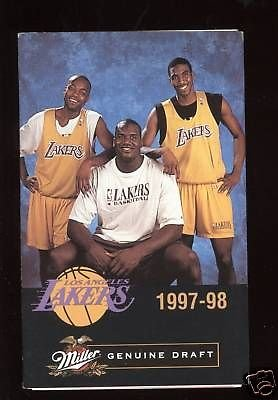 1997 Los Angeles Lakers NBA Basketball Schedule MINT