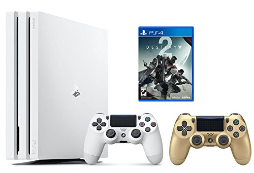 PS4 Destiny 2 Bundle (2 Items): PlayStation 4 Pro 1TB Limited Edition Console – Destiny 2 Bundle and an Extra DualShock 4 Wireless Controller for Playstation 4 – Gold