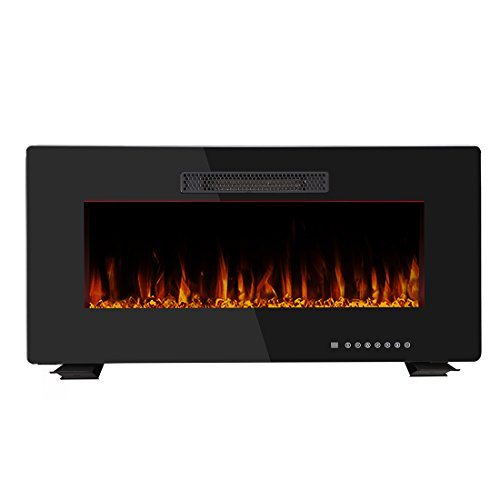 R.W.FLAME 36'' Portable Electric Fireplace Wall Mounted F...