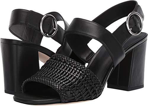 (Via Spiga Women's Evelyne 2 Black Woven Leather 9 M US)