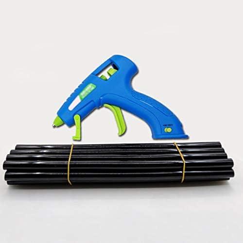Minmin ホットメルト接着ガン、子供の大人手作り、ブルーに適したスティックのりとブラケット付き15WミニUSB充電式ホットグルーガンキット、 ミニ (Color : A)