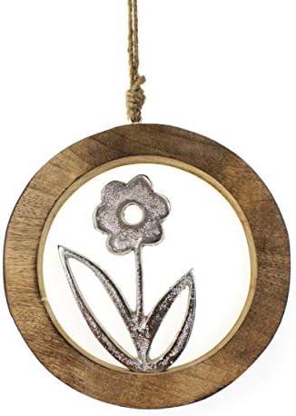 DIY osteranhänger holzblumen Holzanhänger fleurs 3er set printemps remorque