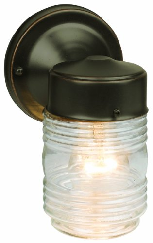 Cheap  Design House 505198 Jelly Jar 1 Light Wall Light, Oil Rubbed Bronze