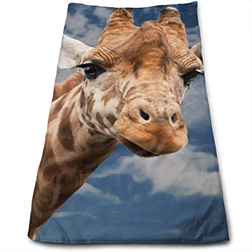 JTRVW Luxury Hand Towels, Giraffe-Animal-Funny-Facial.jpg Mi