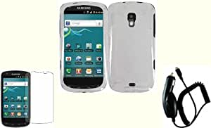 Clear Hard Case Cover+LCD Screen Protector+Car Charger for Samsung Galaxy S Aviator R930