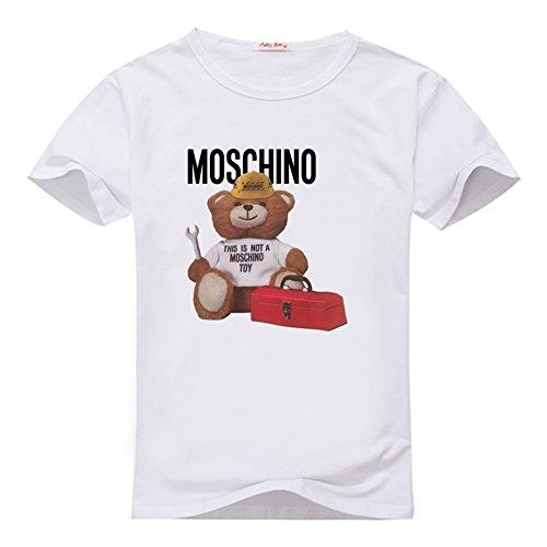 fancesca-womens-moschino-graphic-logo-printed-crew-neck-tops-m-white